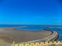 De kust van Marokko van Essaouira stock afbeelding
