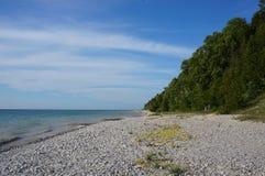 De kust van meermichigan, Glenn Arbor, Michigan Stock Fotografie