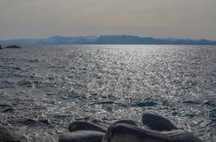 De kust van meertahoe in de winter Royalty-vrije Stock Afbeelding
