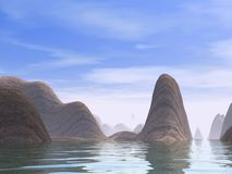 De kust van Mysty Royalty-vrije Stock Afbeeldingen