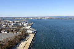 De kust van New Jersey door Barnegat Royalty-vrije Stock Foto's