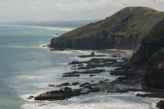 De kust van Nieuw Zeeland Stock Foto's