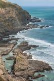 De kust van Nieuw Zeeland Royalty-vrije Stock Foto's