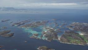 De kust van Noorwegen stock footage
