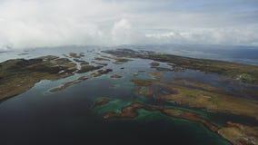 De kust van Noorwegen stock videobeelden