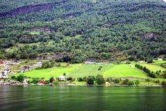 De kust van Noorwegen Stock Foto