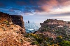 De kust van Portugal Stock Foto