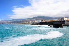 De kust van Puerto de la Cruz royalty-vrije stock foto