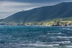 De kust van Puntacarnero, Cadiz, Spanje royalty-vrije stock afbeelding