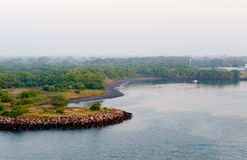 De kust van Quetzal van Puerto toneel royalty-vrije stock foto