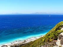 De kust van Rhodos Stock Fotografie