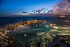 De kust van Riomaggiore Stock Foto