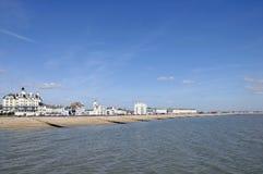 De kust van Sussex in Eastbourne Stock Afbeeldingen