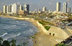 De kust van Tel Aviv. Royalty-vrije Stock Afbeeldingen
