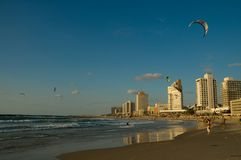 De kust van Tel Aviv Royalty-vrije Stock Foto's
