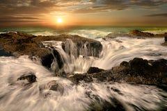 De Kust van Thors goed Oregon van waterspuiten Royalty-vrije Stock Foto