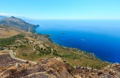 De kust van Thyrreense Zee dichtbij Maratea, Italië Stock Fotografie