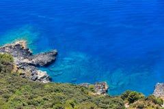De kust van Thyrreense Zee, Italië Stock Afbeeldingen