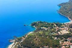De kust van Thyrreense Zee, Maratea, Italië Royalty-vrije Stock Afbeeldingen