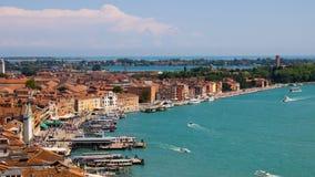 De kust van Venetië stock afbeelding