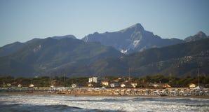 De kust van Versilia Stock Foto's