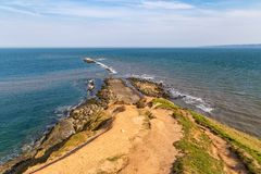 De kust van Yorkshire in Filey Brigg, het UK Royalty-vrije Stock Afbeelding