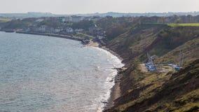 De kust van Yorkshire in Filey, het UK Stock Afbeeldingen