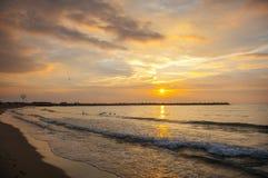 De kust van de Zwarte Zee, Varna, Bulgarije Stock Foto