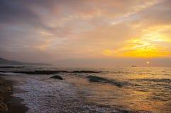 De kust van de Zwarte Zee, Varna, Bulgarije Royalty-vrije Stock Afbeeldingen