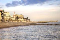 De kustavond van de Zwarte Zee stock foto