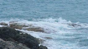 De kustgolven van Indische Oceaan stock video