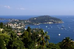 De kustkust van Azur in Frankrijk stock fotografie