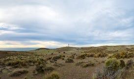 De kustlandschap van Patagonië in valdesschiereiland stock foto's