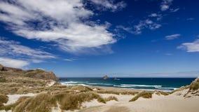 De kustlijn bij Sandfly Baai royalty-vrije stock foto's