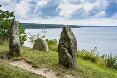 De kustlijn Denemarken van Bornholms Stock Afbeeldingen
