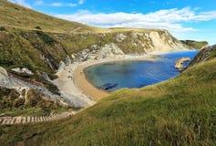 De kustlijn die van Dorset naar het Westenbaai kijken royalty-vrije stock afbeelding