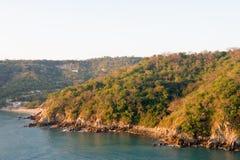 De kustlijn Mexico van Huatulco stock foto