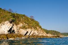 De kustlijn Mexico van Huatulco stock afbeeldingen