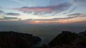 De kustlijn vóór dageraad Stock Foto's