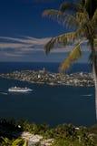 De kustlijn van Acapulco royalty-vrije stock foto's