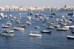 De kustlijn van Aleandria - Egypte Stock Afbeeldingen