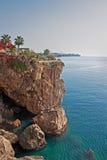 De kustlijn van Antalyaturkije Stock Afbeelding