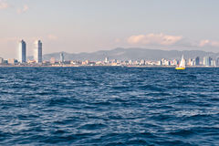 De kustlijn van Barcelona royalty-vrije stock afbeelding