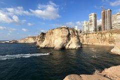 De Kustlijn van Beiroet (Libanon) royalty-vrije stock foto's