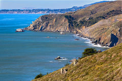 De kustlijn van Californië in Tamalpais staatspark, de provincie van Marin Royalty-vrije Stock Foto's