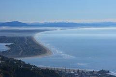 De Kustlijn van Chrustchurch, Nieuw Zeeland Royalty-vrije Stock Foto's