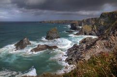 De kustlijn van Cornwall royalty-vrije stock afbeelding