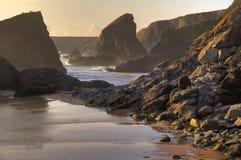 De Kustlijn van Cornwall, Engeland Stock Afbeeldingen
