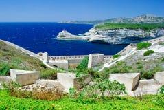 De Kustlijn van Corsica Stock Afbeeldingen