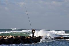 De Kustlijn van de Middellandse Zee van Israël royalty-vrije stock foto's